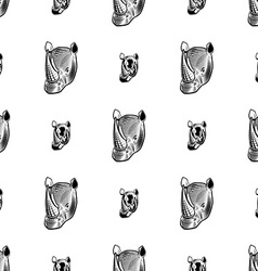rhino seamless pattern vector image vector image