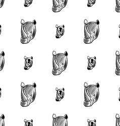 Rhino seamless pattern vector