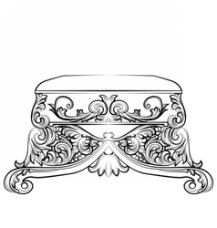 Royal Baroque Classic chair vector image