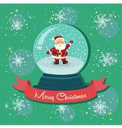 Santa Snowball Snowflakes vector image vector image