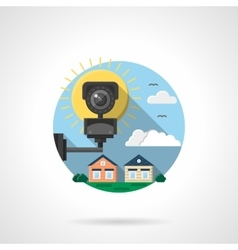 Security cctv color detailed icon vector