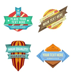 set of logo retro ribbon labels and futuris vector image