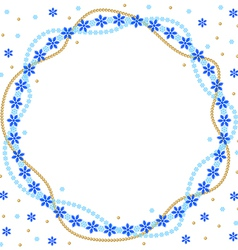 Snow round vector
