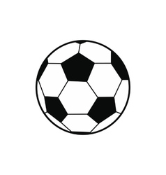 Soccer ball black simple icon vector image