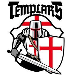 templar knight mascot vector image