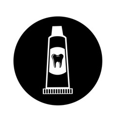 Tooth paste isolated icon vector