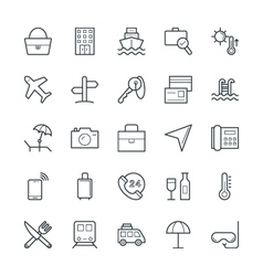 Travel cool icons 1 vector