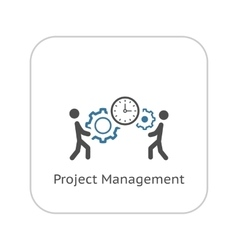 Project management icon flat design vector
