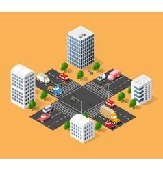 Urban transport street vector
