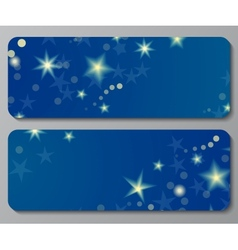 Banners with night sky background vector