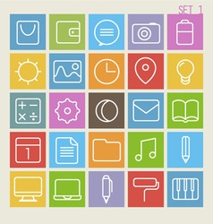 25 trendy thin icons set 1 vector