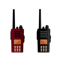 Walkie talkie and police radio or radio vector image