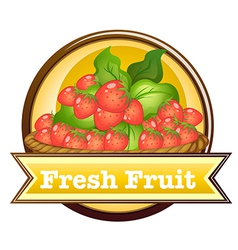 Fresh fruit label vector