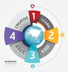Modern Circle Design template vector image