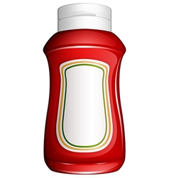 A red bottle vector