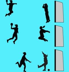 Handball women vector