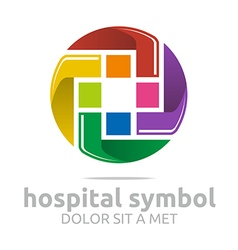 Abstract logo hospital medical colorful icon vector