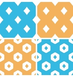 Diamonds pattern set colored vector