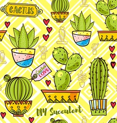Trend of cactuspatterns vector