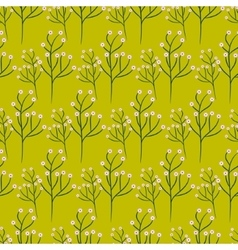 Wild flower spring field seamless pattern vector