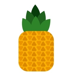 Delicious fruit pineapple isolated icon design vector