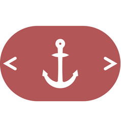 Anchor solid body symbol vector