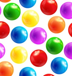 Background with balls seamless vector image