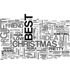 Best gift idea text word cloud concept vector