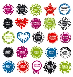 biggest collection of logos with blots vector image