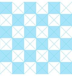 Blue white chess board diamond background vector