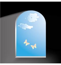 butterflies in the window vector image