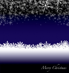 Christmas snow drift vector