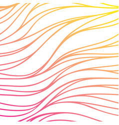 color hand-drawing wave sunny background gradient vector image