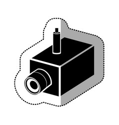 Contour video camera interior icon vector