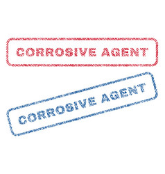 Corrosive agent textile stamps vector