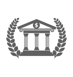 Court house building icon vector