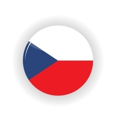 Czech Republic icon circle vector image