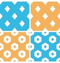 Diamonds pattern set colored vector
