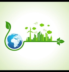 Ecology concept with earth icon vector image vector image
