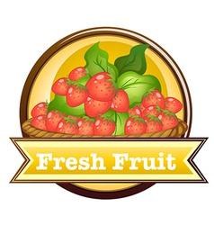 Fresh fruit label vector