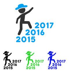 Gentleman steps years flat icon vector