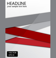 gray and red banner background design vector image vector image