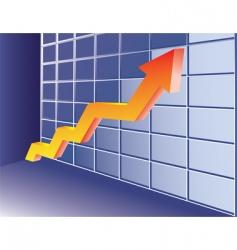 growing trend vector image vector image