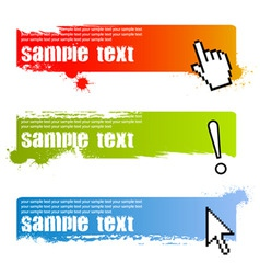 grunge banner backgrounds vector image