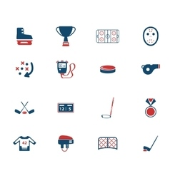 Hockey simply icons vector image