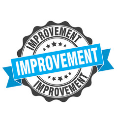 Improvement stamp sign seal vector