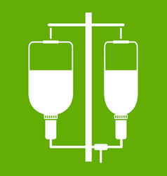 intravenous infusion icon green vector image