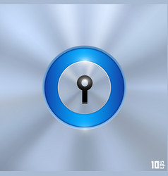 keyhole on a blue background vector image vector image