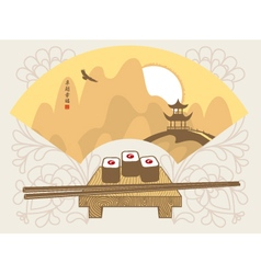 landscape China sushi vector image