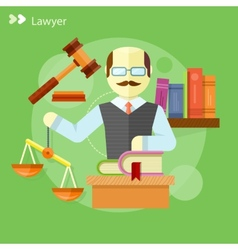 Lawyer icons concept vector